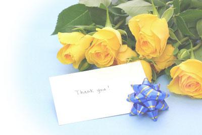 手紙で感謝を