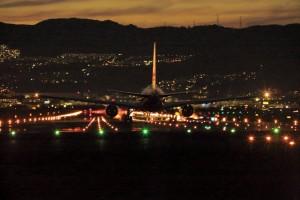 ⑫夜間飛行着陸IMG_0166