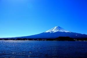 河口湖の富士山1176