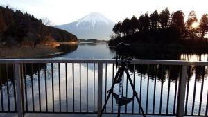 田貫湖の撮影風景