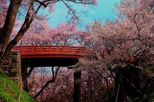 高遠城址の城門橋HDR