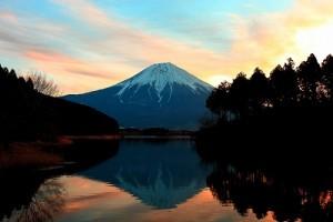 富士山夕焼け
