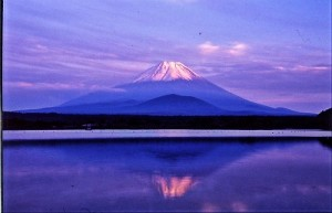 精進湖の富士山